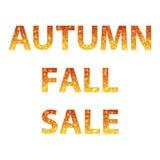 Inscripciones de la venta del otoño stock de ilustración