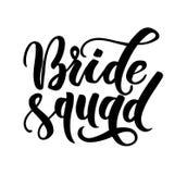 Inscripciones de las letras del pelotón de la novia Caligrafía de la boda Vector libre illustration