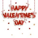 Inscripciones del día de tarjeta del día de San Valentín Fotografía de archivo libre de regalías