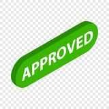 Inscription approved isometric icon Stock Images