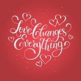 Inscription au sujet de l'amour Photo stock