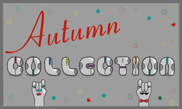 Inscription Autumn Collection. Vector Illustration Royalty Free Stock Photo