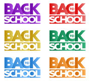 Inscription Back to school in the form of a logo Royalty Free Stock Photos