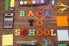 Inscription `Back to School` Stock Photo