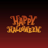 Inscription on the background Happy Halloween Royalty Free Stock Photos