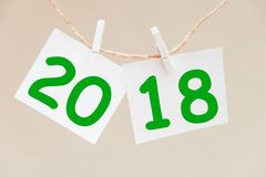 Inscription 2018 on the background. Happy new year Stock Photo