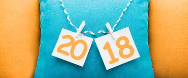 Inscription 2018 on the background. Happy new year Royalty Free Stock Images