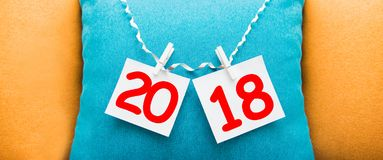 Inscription 2018 on the background. Happy new year Stock Images