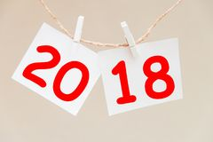 Inscription 2018 on the background. Happy new year Royalty Free Stock Photography