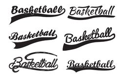 Inscription Basketball with swooshes vector illustration