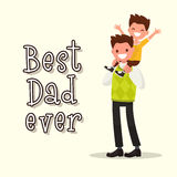 Inscription Best Dad ever. Vector illustration. Of a flat design Royalty Free Stock Photos