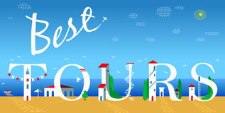 Inscription Best tours. Vector Illustration Stock Image