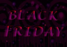 The inscription Black Friday from purple-red letters. royalty free illustration