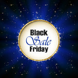 Inscription Black Friday Sale on blue background Stock Images