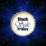 Inscription Black Friday Sale on blue background. Illustration Stock Images