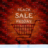 Inscription Black Friday Sale on brick wall Stock Photo