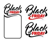 Inscription Black Friday. Winter design element. Letteringn Stock Image