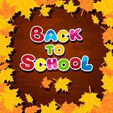 The inscription on the blackboard back to school Stock Photo
