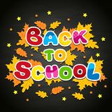The inscription on the blackboard back to school Royalty Free Stock Photos