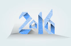 Inscription 2016  blue on a light background. Vector inscription 2016  blue on a light background Stock Photos