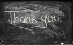 The inscription on the board thank you Royalty Free Stock Photos