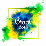 Inscription Brazil 2016 on background Stock Image