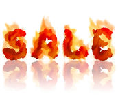 Inscription burning sale Royalty Free Stock Photos