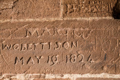 Inscription from Castle Stock Photo
