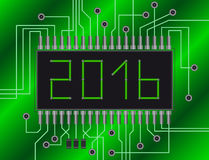 2016 the inscription on the chip Stock Photo