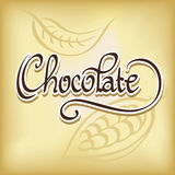 Inscription chocolate - calligraphic Royalty Free Stock Images