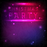 The inscription Christmas party in neon style Stock Photos
