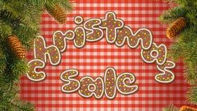The inscription Christmas sale Stock Photo
