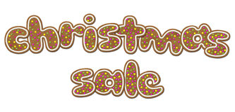 The inscription Christmas sale Royalty Free Stock Image