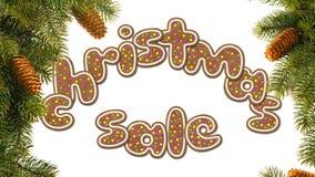 The inscription Christmas sale Stock Photos