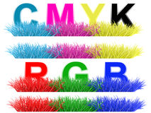 Inscription CMYK Stock Images