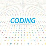 The inscription is coding on a digital background . Vector illustration Royalty Free Stock Image