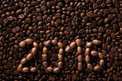 Inscription 2016 from coffee beans Stock Images