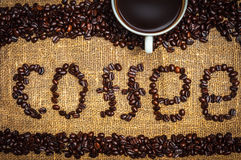 Inscription coffee Royalty Free Stock Images