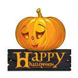Inscription congratulation with Happy Halloween Stock Images