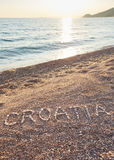 The inscription Croatia laid out with stones Royalty Free Stock Photography