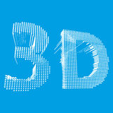 Inscription-3D иллюстрация слова 3D вектор Стоковая Фотография
