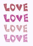 Inscription d'amour de vecteur avec le coeur Photographie stock libre de droits