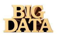 Inscription d'or de grandes données, rendu 3D Images stock