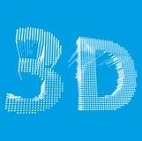 Inscription-3D ejemplo de la palabra 3D Vector Fotografía de archivo