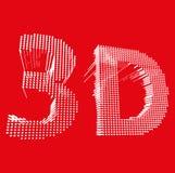Inscription-3D ejemplo de la palabra 3D Vector Imagen de archivo libre de regalías