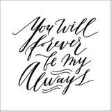 Inscription d'isolement romantique sur le dos de blanc pour épouser l'invitation, affiche, polygraphy Tiré par la main moderne et Image libre de droits
