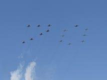 Inscription de 70 avions militaires Photos libres de droits