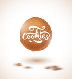 Inscription de biscuit et de biscuits Illustration de vecteur illustration libre de droits