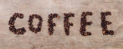 Inscription de café Photographie stock libre de droits