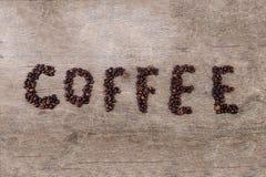 Inscription de café Photos stock